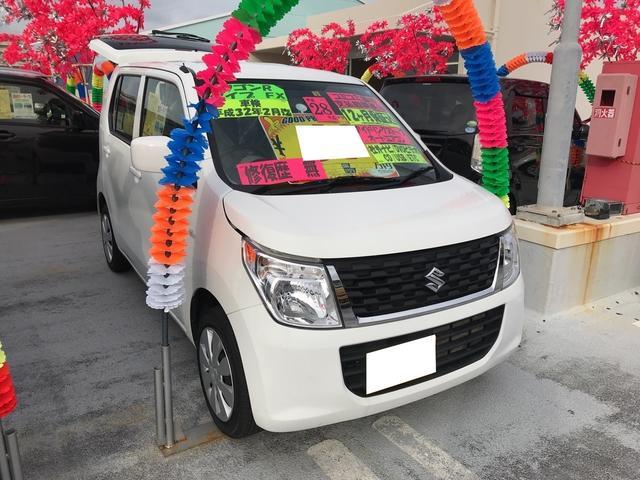 沖縄の中古車 スズキ ワゴンR 車両価格 65万円 リ済込 平成28年 8.5万km スペリアホワイト