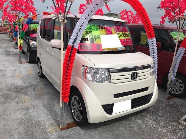 沖縄の中古車 ホンダ N-BOX+ 車両価格 87万円 リ済込 2013(平成25)年 7.8万km プレミアムホワイトパール