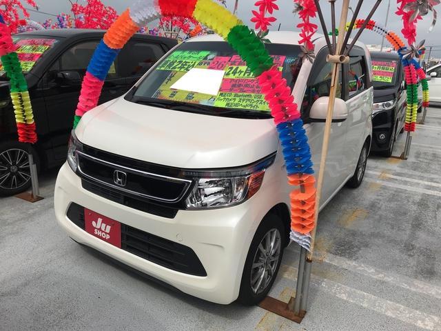 沖縄の中古車 ホンダ N-WGN 車両価格 75万円 リ済込 2014(平成26)年 7.4万km プレミアムホワイトパール