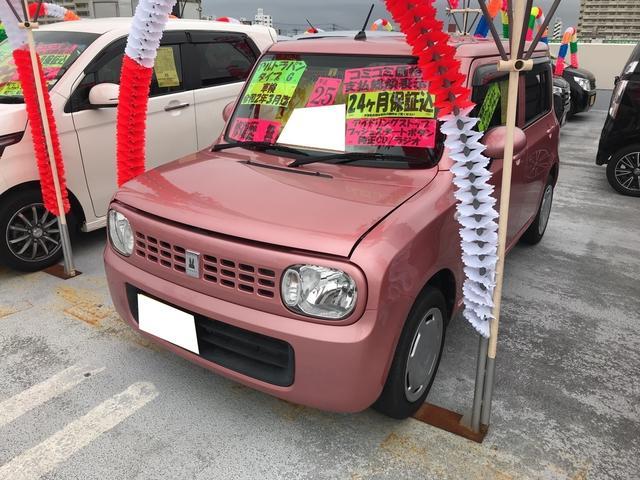 沖縄の中古車 スズキ アルトラパン 車両価格 73万円 リ済込 2013(平成25)年 6.6万km チェリーピンクパールメタリック