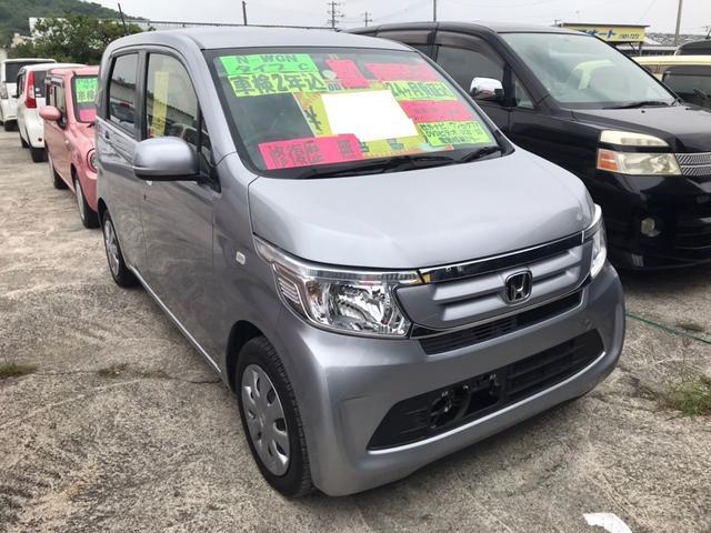 沖縄の中古車 ホンダ N-WGN 車両価格 79万円 リ済込 2017(平成29)年 7.1万km ルナシルバーメタリック