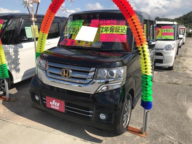 沖縄の中古車 ホンダ N-BOXカスタム 車両価格 113万円 リ済込 2016(平成28)年 7.8万km ブラック