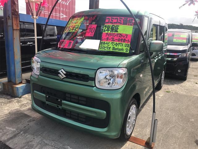 沖縄の中古車 スズキ スペーシア 車両価格 104万円 リ済込 2018(平成30)年 7.0万km ツールグリーンパールメタリック