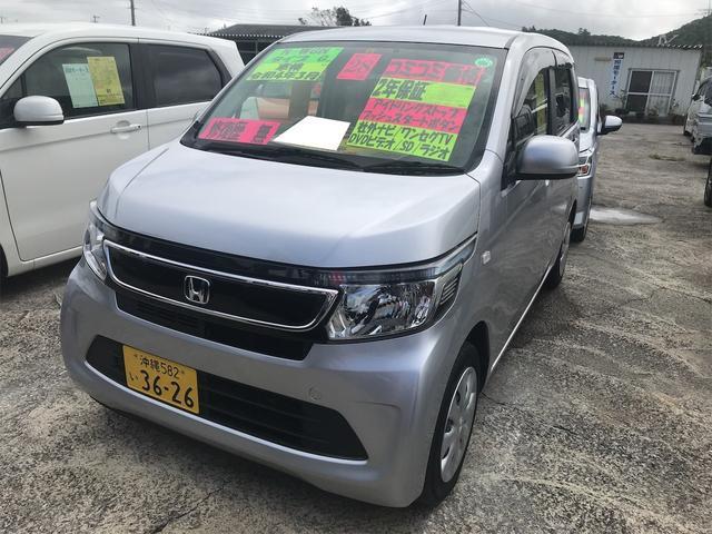 沖縄県豊見城市の中古車ならN-WGN G 元レンタカー 横滑り防止機能 エアバック ナビTV キーフリー