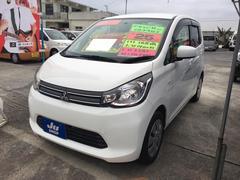 沖縄の中古車 三菱 eKワゴン 車両価格 52万円 リ済込 平成25年 6.5万K ホワイトソリッド