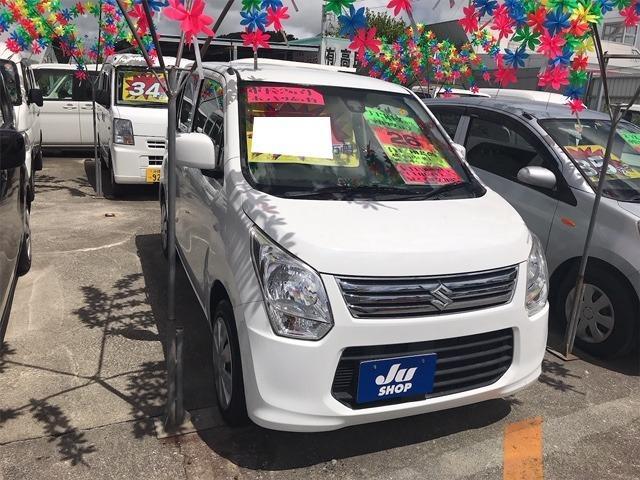 沖縄の中古車 スズキ ワゴンR 車両価格 32万円 リ済込 2014(平成26)年 13.3万km スペリアホワイト