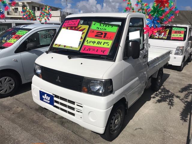 三菱 4WD AC MT 軽トラック ホワイト PS