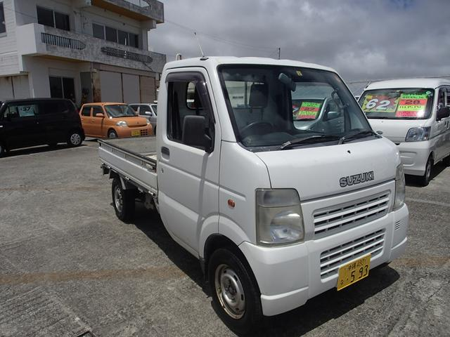 沖縄の中古車 スズキ キャリイトラック 車両価格 23万円 リ済込 2005(平成17)年 10.2万km ホワイト