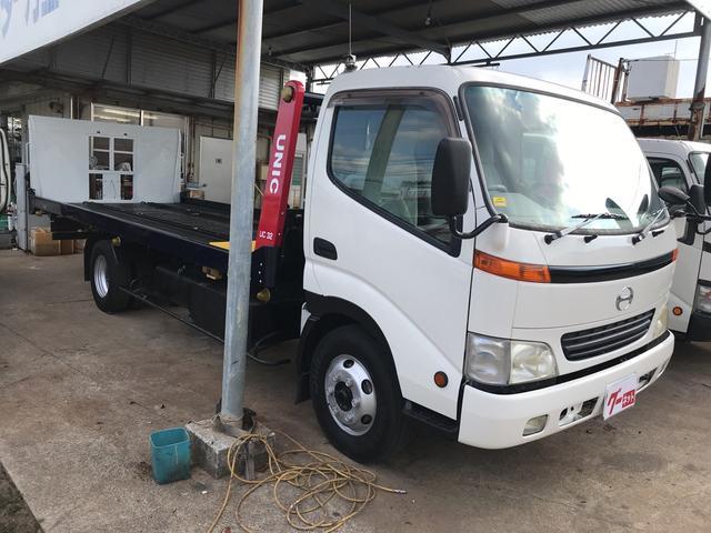 沖縄の中古車 日野 デュトロ 車両価格 245万円 リ済込 平成13年 28.8万km ホワイト