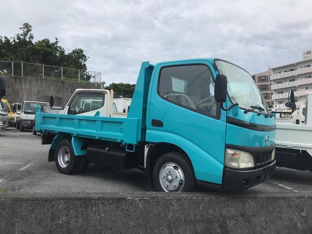 沖縄の中古車 日野 デュトロ 車両価格 128万円 リ済込 2003(平成15)年 14.2万km ライトブルー