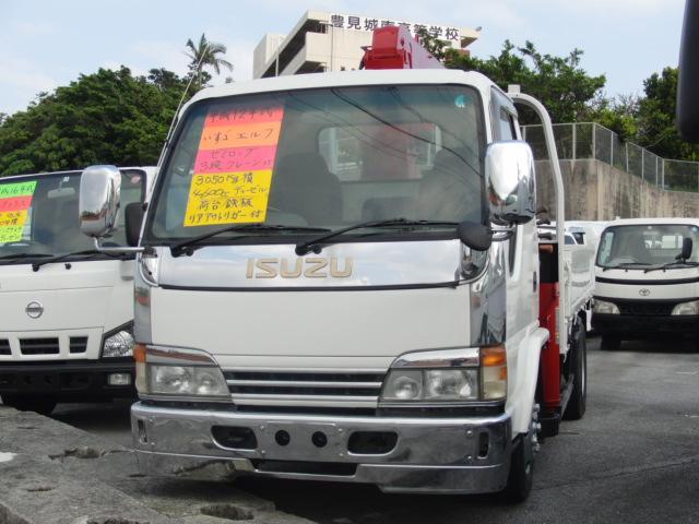 沖縄県の中古車ならエルフトラック セミロング3段クレーン
