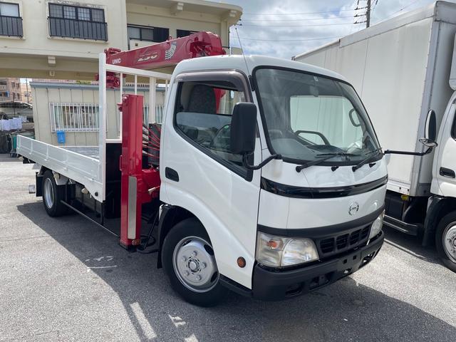 沖縄県の中古車ならデュトロ  ユニックハイジャッキ4段クレーン