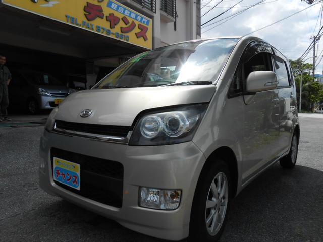 沖縄の中古車 ダイハツ ムーヴ 車両価格 34万円 リ済込 平成19年 9.1万km ゴールド