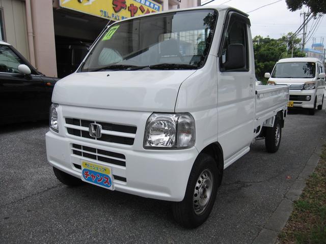 沖縄の中古車 ホンダ アクティトラック 車両価格 34万円 リ済込 2005(平成17)年 10.2万km ホワイト