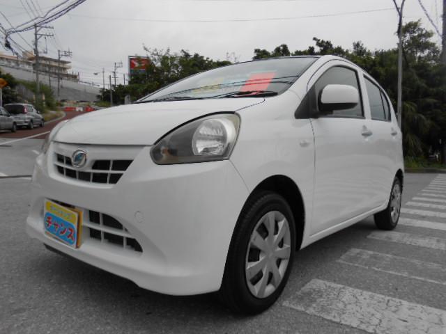 沖縄の中古車 ダイハツ ミライース 車両価格 37万円 リ済込 2013(平成25)年 7.0万km ホワイト