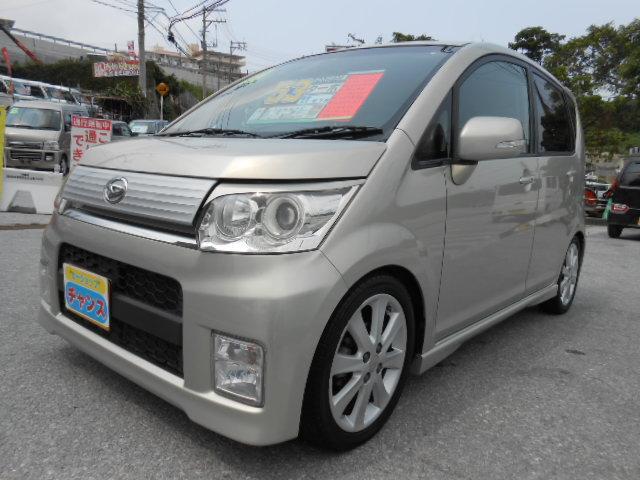 沖縄の中古車 ダイハツ ムーヴ 車両価格 52万円 リ済込 2010(平成22)年 4.8万km シャンパンゴールド
