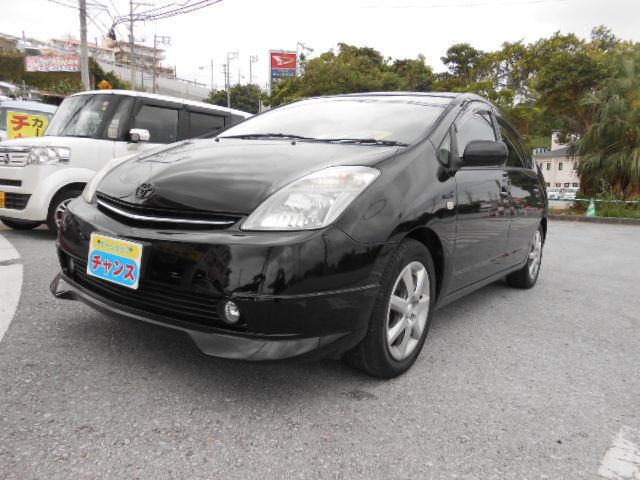 沖縄の中古車 トヨタ プリウス 車両価格 45万円 リ済込 2008(平成20)年 9.3万km ブラック