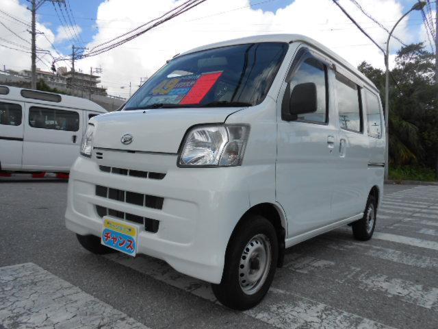沖縄の中古車 ダイハツ ハイゼットカーゴ 車両価格 48万円 リ済込 2015(平成27)年 9.6万km ホワイト