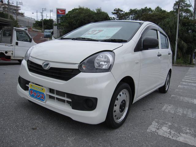 沖縄の中古車 ダイハツ ミライース 車両価格 37万円 リ済込 2015(平成27)年 2.5万km ホワイト