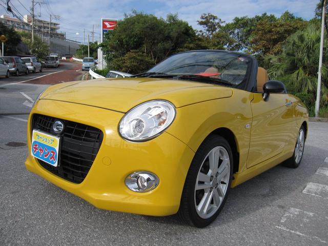沖縄の中古車 ダイハツ コペン 車両価格 142万円 リ済込 2016(平成28)年 4.3万km イエロー