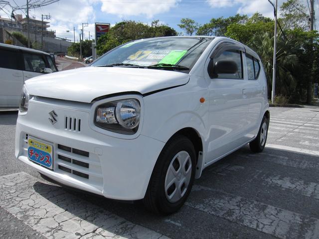 沖縄の中古車 スズキ アルト 車両価格 51万円 リ済込 2016(平成28)年 3.3万km ホワイト