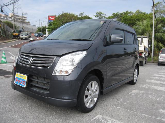 沖縄の中古車 スズキ ワゴンR 車両価格 41万円 リ済込 2012(平成24)年 5.0万km ブラック