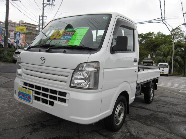 沖縄の中古車 マツダ スクラムトラック 車両価格 58万円 リ済込 2014(平成26)年 8.6万km ホワイト