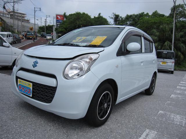 沖縄の中古車 スズキ アルトエコ 車両価格 37万円 リ済込 2012(平成24)年 4.4万km ブルー