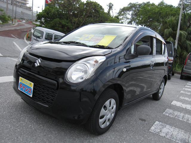 沖縄の中古車 スズキ アルト 車両価格 23万円 リ済込 2011(平成23)年 8.1万km ブラック