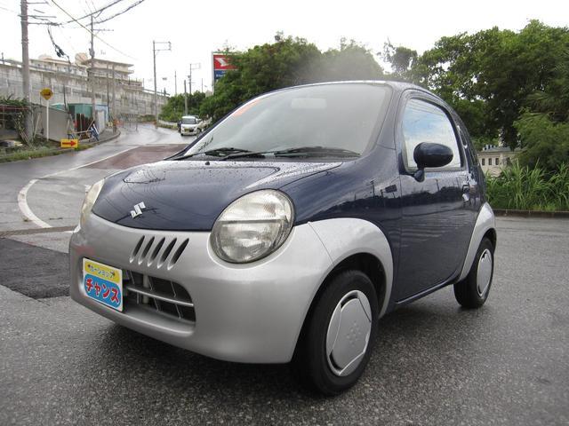 沖縄の中古車 スズキ ツイン 車両価格 43万円 リ済込 2004(平成16)年 10.6万km ブルー