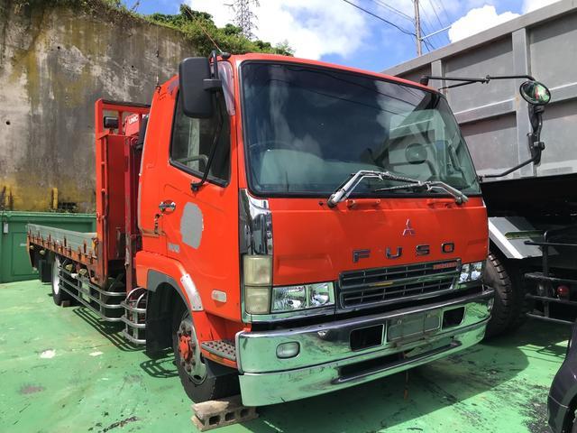 沖縄県の中古車ならファイター セルフ4段クレーン 6.8t積 ワンオーナー