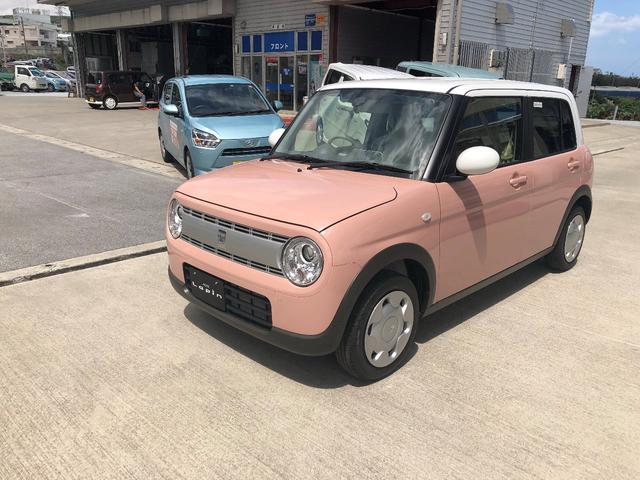 沖縄の中古車 スズキ アルトラパン 車両価格 131万円 リ未 新車  コフレピンクパールM×ホワイト2トーン
