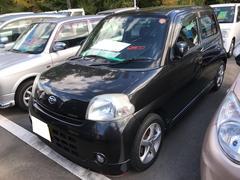 エッセカスタム 軽自動車 ブラックマイカメタリック AT AC