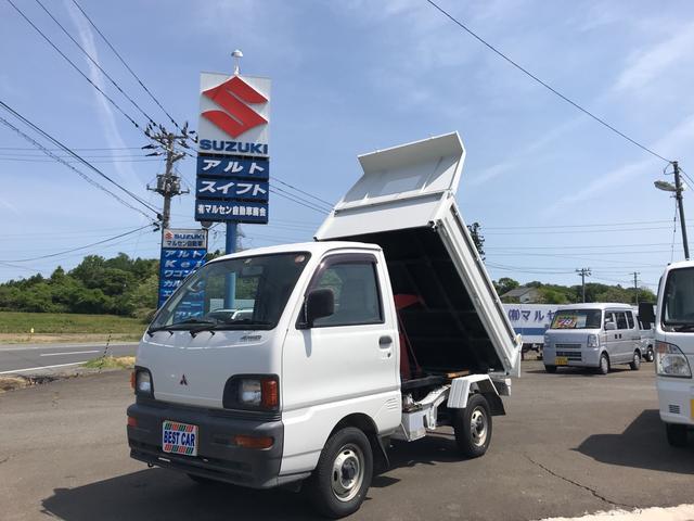 三菱 ダンプ パワステ 4WD PTOダンプ