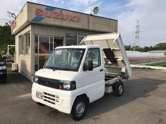 ミニキャブトラック楽床ダンプ エアコン パワステ 4WD