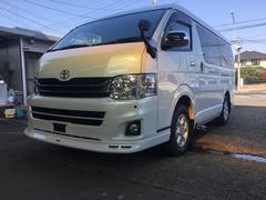 ハイエースワゴンGL 社外ナビ フルセグ 4WD ワンオーナー 記録簿付