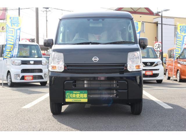 日産 NV100クリッパーバン GXターボ 禁煙車 ABS エアコン 4WD キーレス 届出済未使用車 ターボ WエアB 電格ミラー パワーウィンドウ VDC