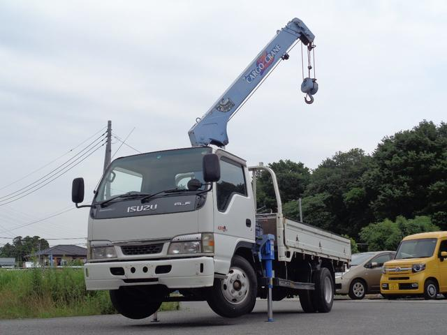 いすゞ タダノ3段クレーン フックイン 床板鉄板張