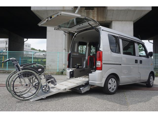 スズキ  ウィズ 車いす移動車 リヤシート付 電動固定式 ナビ TV 電動ウィンチ付き