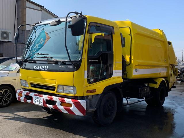 いすゞ 清掃車 パッカー車 プレス式 4t 汚水タンク 7.3立米