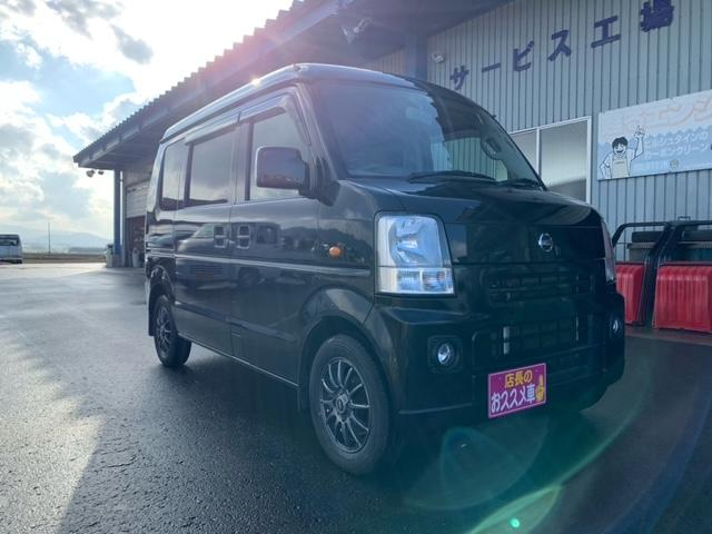日産 GXターボ ハイルーフ 4WD オートマ 純正ナビ 新品夏タイヤ