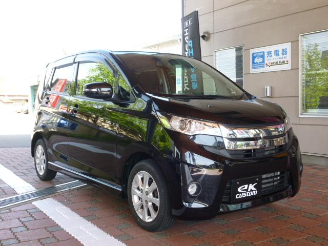 三菱 eKカスタム G 4WD 社外ナビ バックカメラ