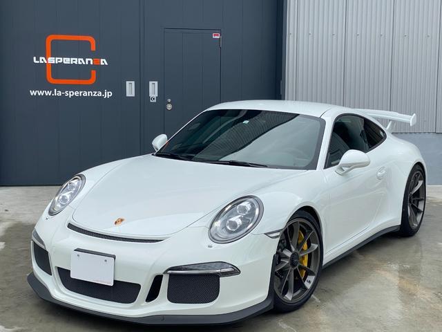 ポルシェ 911 911GT3 911GT3(2名) ストリートモデル ディーラー車 イエローキャリパー レッドステッチ PCCB スポーツエキゾースト バックカメラ レーダー探知機 ホワイトカラーメーター レザーインテリア