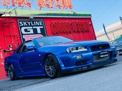 スカイライン25GTターボ GT−Rフェイス RAYS18AW EVC
