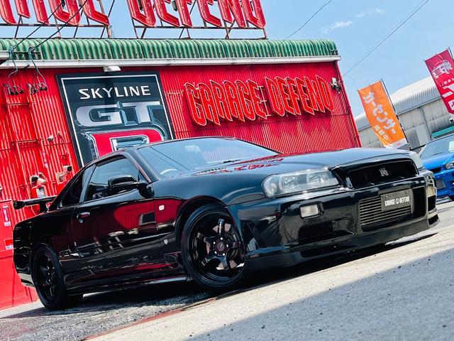 日産 スカイライン 25GTターボ ・GT-R純正バンパーFR&ボンネット・社外サイドステップ・GT-Rタイプトランクスポイラー・ウェッズスポーツ18AW・ブリッツIC・HKS車高調・柿本マフラー