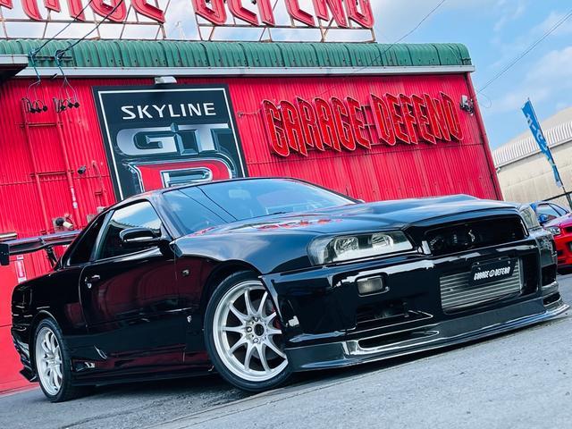 日産 スカイライン 25GTターボ ・GT-RFバンパー・Fカーボンリップ・サイドステップ&リアバンパー・NISMOタイプボンネット・リアディフューザー・RAYSホイール・GTウイング・テイン車高調・前置きIC&エアクリ・社外マフラー
