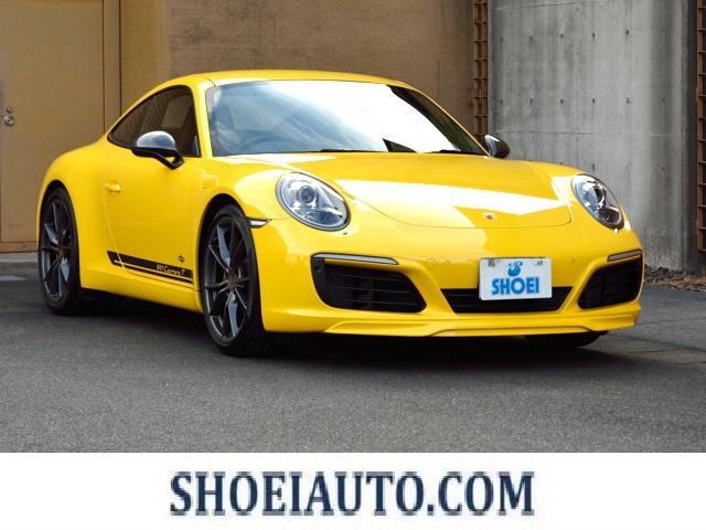 ポルシェ 911カレラT エントリー&ドライブ スポーツペダル スポーツクロノパッケージ スポーツエキゾースト 20インチカレラS スポーツプラスシート レッドシートベルト 軽量強化リヤサイドガラス 同色リップスポイラー