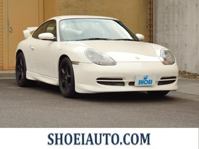 ポルシェ 911カレラ 右H GT3Veaエアロキット 18インチカレラホイール アルカンターラルーフライナー ウッドハンドブレーキレバー レザーエッジフロアマット HDDナビ 地デジ バックカメラ