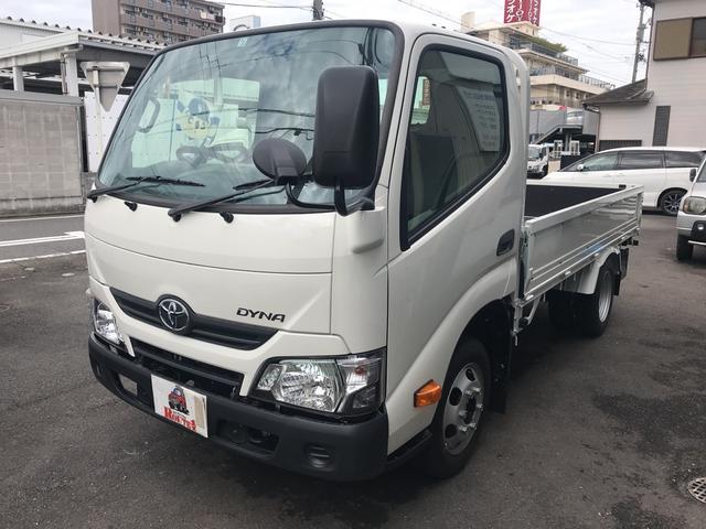 トヨタ ロングフルジャストロー 1.5t ヒラボディー リヤWタイヤ