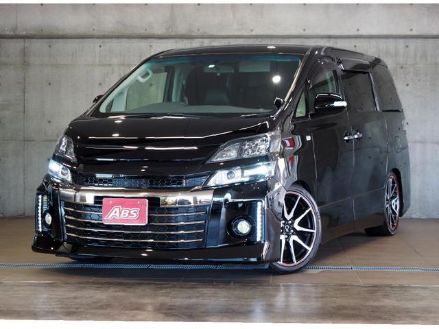 沖縄県の中古車ならヴェルファイア 2.4Z G's 最長3年保証 11インチフリップダウンモニター 8インチナビ TEIN車高調 両側パワースライド 記録簿6枚